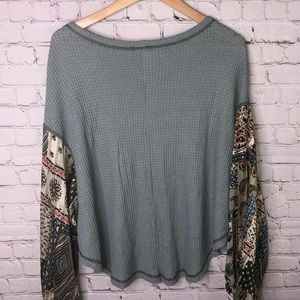By Together Tops - Sage Thermal With Gypsy Sleeves